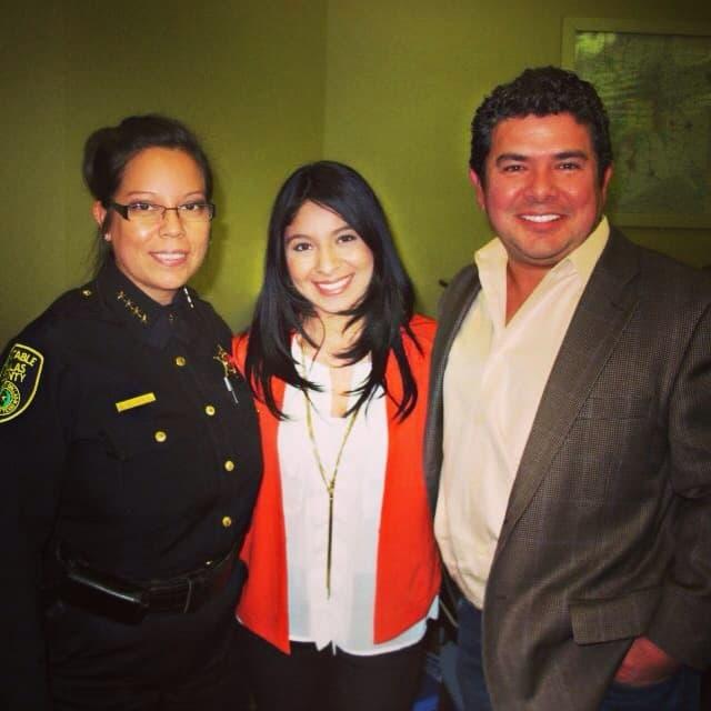 Juan Hernandez, Cassandra Garcia with constable Beth Villarreal