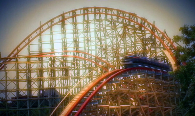 La montaña rusa gigante de Texas en Six Flags Over Texas