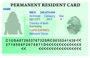 united states permanent resident card or green card mock up