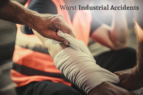 A un trabajador industrial le vendan los brazos armados, con las palabras, los peores accidentes industriales.
