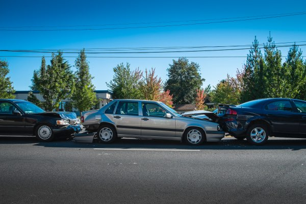 A multi-car pileup.