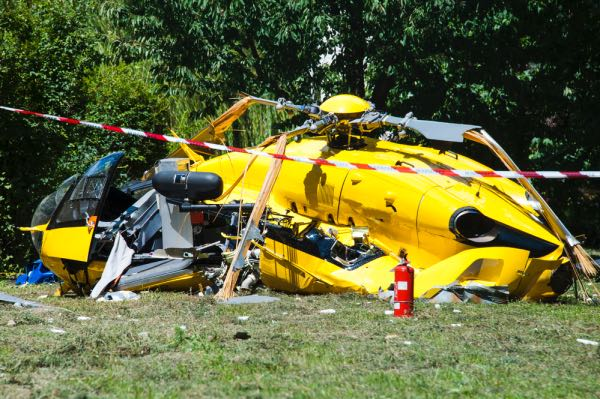 A terrible helicopter crash.